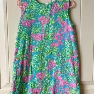 Lilly Pulitzer Girls Shift Dress flamingo 4